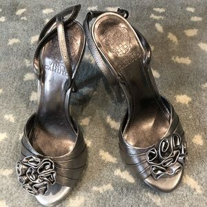 Vince Camino silver heels!